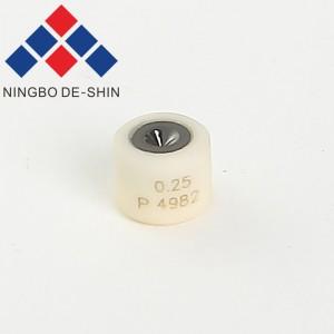 Charmilles C102 ceramic casing with black diamond Lower Diamond Guide 0.25mm, 100430586, 430.586