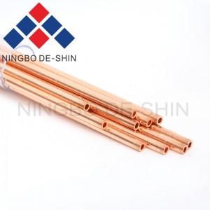 Copper electrode tube single hole, single channel 3.4*400mm