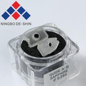 Sodick S101 90-1/86-1/86-2 Type Sapphire split guide A+B 0.26mm 0204681, 3080629, 0200283